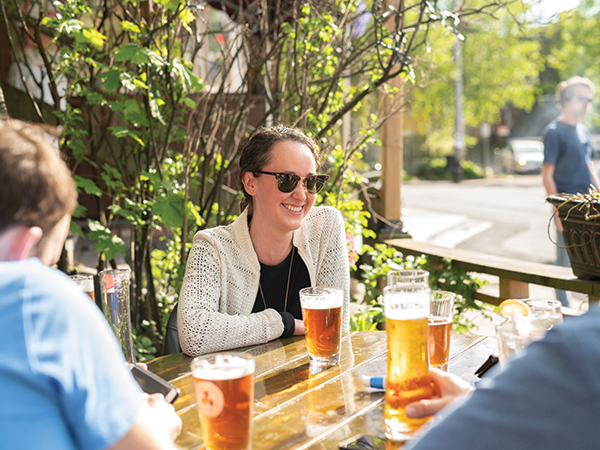 You can enjoy The Seahorse's custom-brewed Horsepower on The Local's patio. - RYAN WILLIAMS