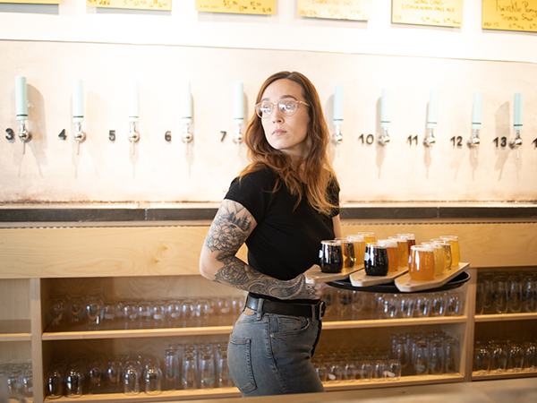 North started with Belgian-inspired beers, but has evolved to create different styles and try different processes. - RILEY SMITH