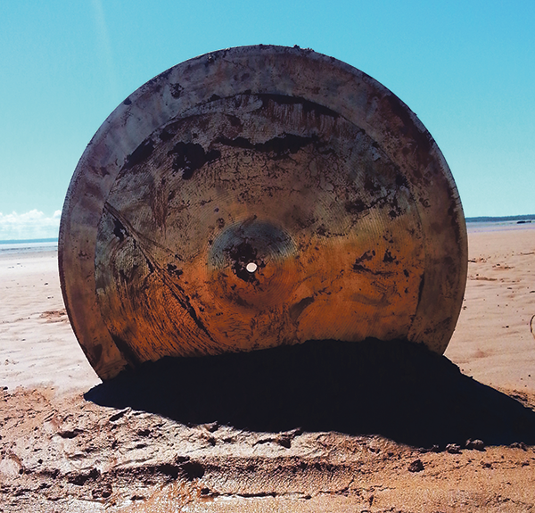 """Intertidal Cymbal Works, a place-responsive sound art and performance, sees Lindsay Dobbins research """"how traditional drums embody the environment they come from."""". - SUBMITTED"""