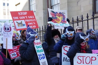 Owls Head protest, February 20 2020. - MIRA DIETZ CHIASSON