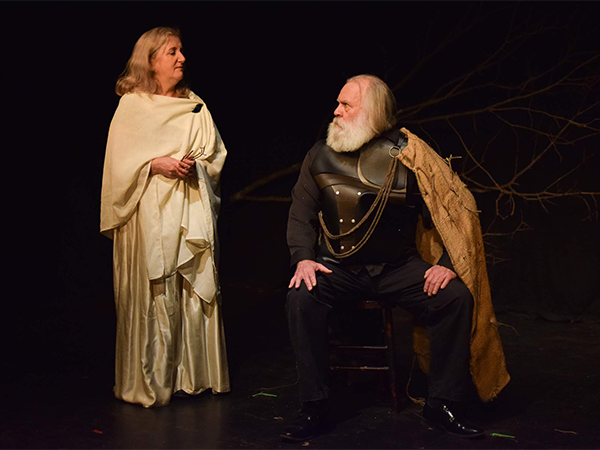 "Lee J. Campbell as Odysseus and Sherry Smith as Penelope in ""Chapter 3: The Great Teller of Tales"" by Sophie Jacome. - MADDI TANG"
