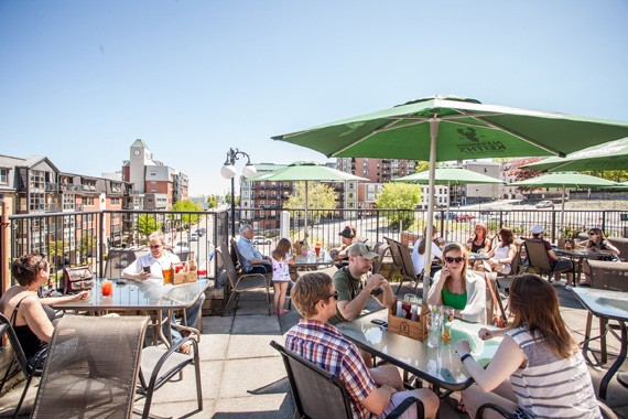 Red Stag's rooftop patio had some great views of the waterfront. - RILEY SMITH