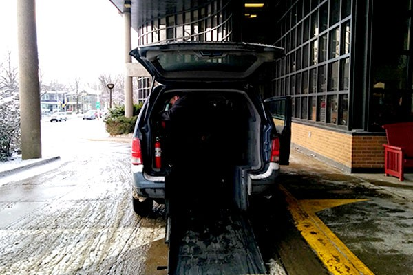 A taxi driver prepares his accessible taxi to pick up a customer at the QEII in 2015. At that time, there were 47 accessible taxis in Halifax. Today that number has shrunk to 11. - CAORA MCKENNA