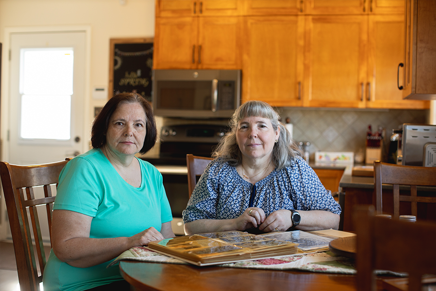 Twin sisters Darlene Metzler and Charlene Chiddenton had to tag-team phoning the nursing station on 8C to get news about their father, Gerald Jackson. - MEGHAN TANSEY WHITTON