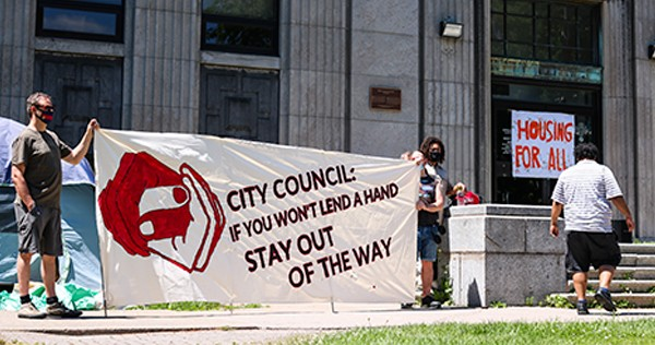 """""""The only reasonable solution to this crisis is housing for everyone on the streets, now."""" THE COAST"""