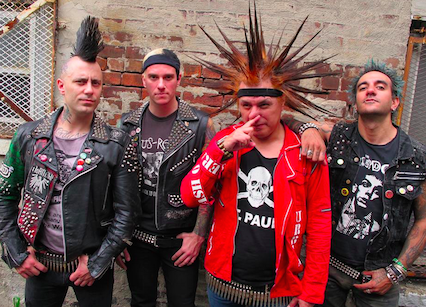 The Casualties, featuring Jorge Herrera (centre right) - VIA FACEBOOK.
