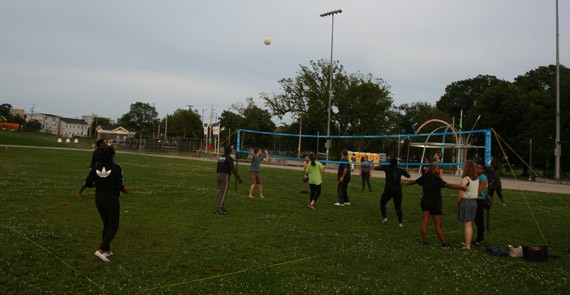 Church group volleyball. - JONATHAN BRIGGINS