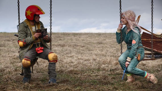 Munro Chambers and Laurence Labeouf swing cute in Turbo Kid.