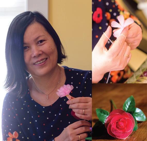 Yidan Li and her floral creations - SAM KEAN