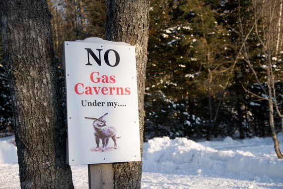 A sign in Brentwood, Nova Scotia. - JAMES STEWART