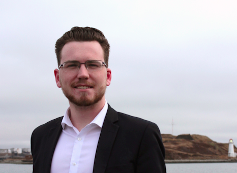 Dominick Desjardins is running for Halifax South Downtown in October's municipal election. - ANISA FRANCOEUR