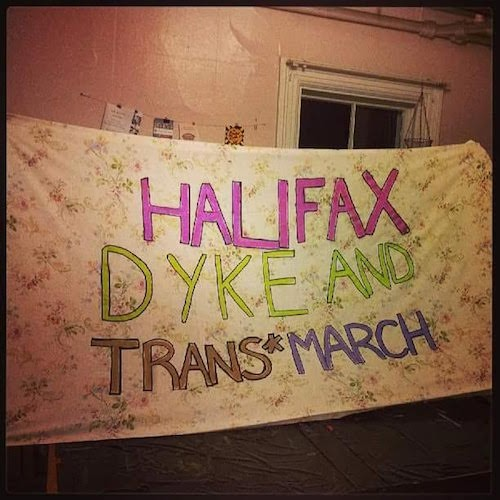 A banner from last year's Dyke and Trans* March - RAD PRIDE'S FACEBOOK