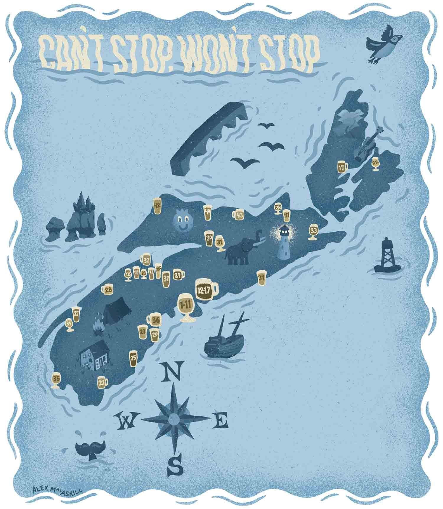 Cant Stop Wont Stop A Map Of Nova Scotias Breweries Beer - Nova scotia map