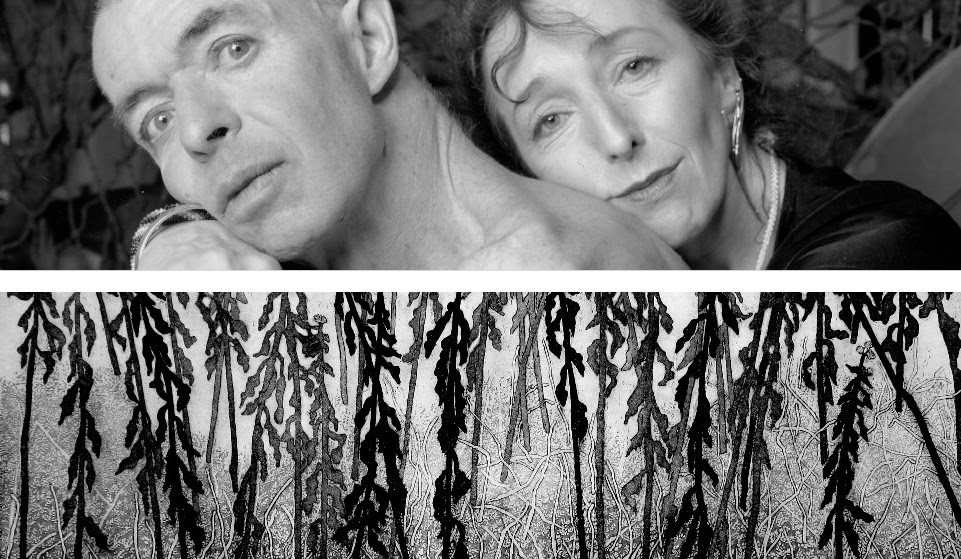 George Steeves, Sublime Camoflage (2006) detail - Cecil Day, Winter Goldenrod (2017) detail - VIA MSVU ART GALLERY
