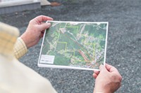 A map of the proposed (and now cancelled) coal mine site on Town land in Westville.