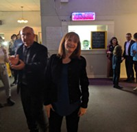 Christine Saulnier arrives at the Mayflower Curling Club in Halifax.