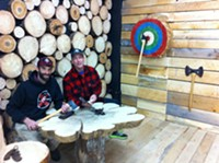 Timber Lounge brings axe-throwing to Agricola Street
