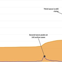 4,000 cases, 3 waves, 1 chart