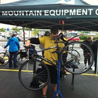 MEC's Mobile Bicycle Maintenance Station