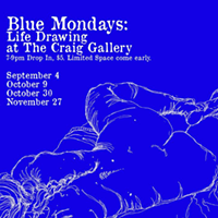 Blue Mondays: Life drawing at the Craig Gallery
