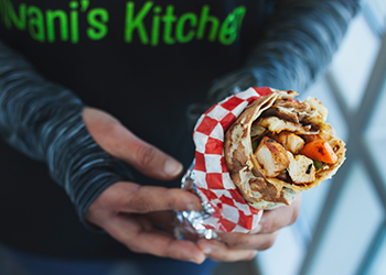 Dish of the month: Stuffed naan roll