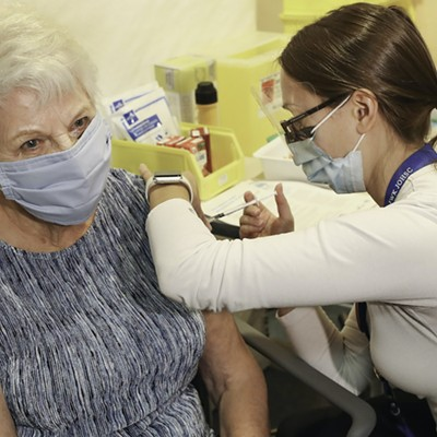 First shots at IWK Health Centre's community-based COVID-19 vaccination clinic