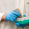 At the microbiology lab, workers test patients samples for COVID. COMMUNICATIONS NOVA SCOTIA