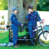 <i>A Tale on Two Wheels</i> is a free outdoor show for very young audiences (18 months to 6 years) delivered to parks and outdoor spaces by tandem bicycle.