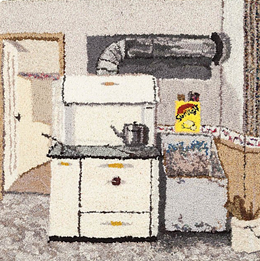 JOANNA CLOSE - The Kitchen is an example of Close's slice-of-life artistic eye