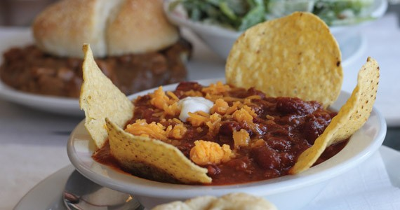 Use your tortillas as utensils for Grand Finales' chili. - MELISSA BUOTE