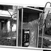 Vandalized pay phone, corner of Le Marchant and Coburg.