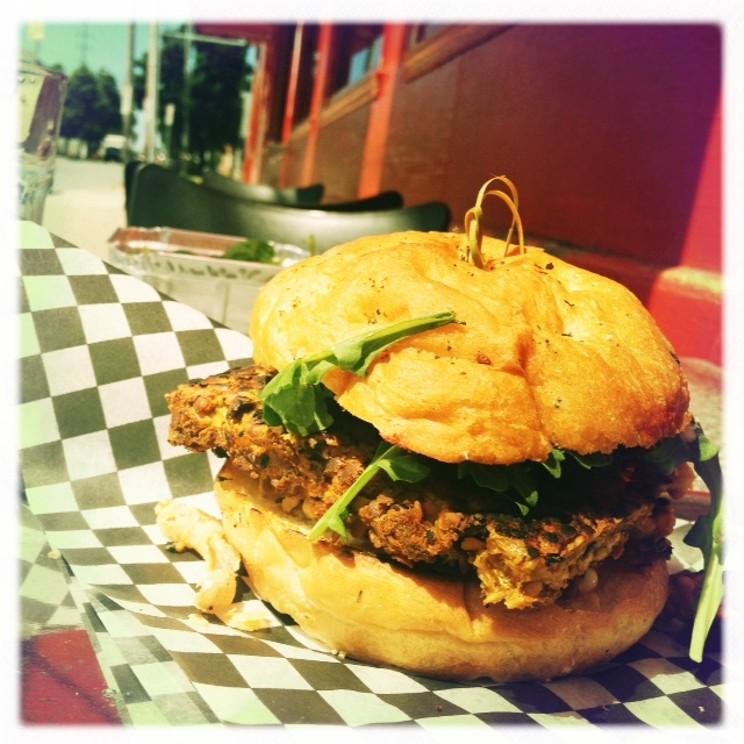 Veggie burger at Ace Burger Co. Halifax, Nova Scotia