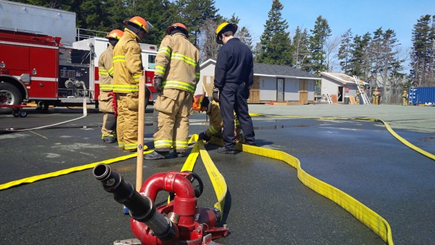 Volunteer firefighters at a recruitment class last April. - HALIFAX COMMUNICATIONS