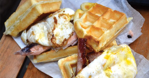 Waffles and duck eggs and bacon, oh my. - JORDAN WHITEHOUSE
