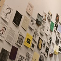 Walls of zines at B Side Gallery