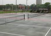 <b>What's wrong?</b> Common tennis courts are falling apart.