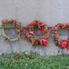 <b>What's wrong?</b> Dead wreaths commemorating Halifax Explosion victims.