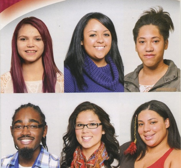 Young people from the black community are featured on the African heritage Month poster.