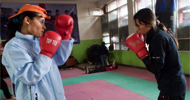 Young women fight tradition in The Boxing Girls of Kabul. - RAFAELA PERSSON