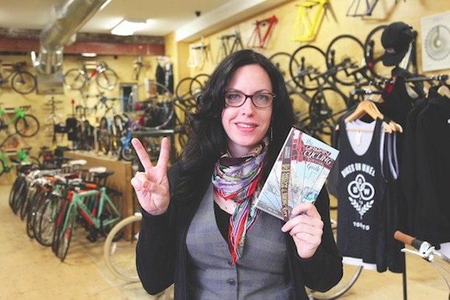 Yvonne Bambrick is an urban cycling consultant, photographer and executive director of the Forest Hill Village Business Improvement Area (BIA). She was the founding executive director of the Toronto Cyclists Union (now Cycle Toronto). - JOHN BAKER