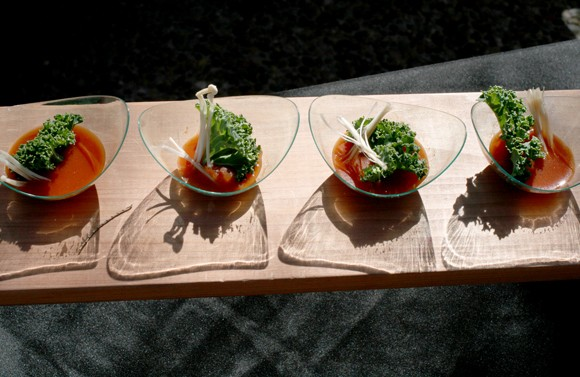 A savory basil tomato fume from the JW Marriott Resort in Tucson. - HEATHER HOCH