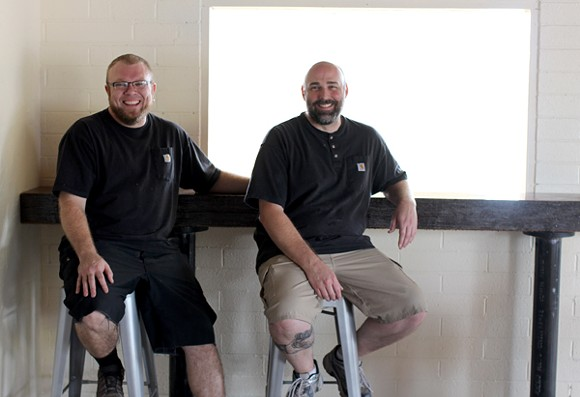 Alvin Kuenster and Brian McBride are looking to bring the downtown vibe out east. - HEATHER HOCH