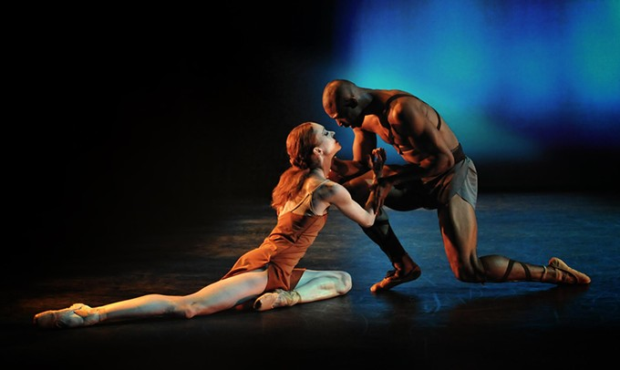Ballet Tucson principal dancers Jenna Johnson and Isaiah Sumler.