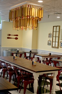 Bell's aunt, owner of Grey House Antiques, did the decor of Pie Bird. - HEATHER HOCH