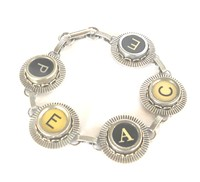 SARA SACKS - Buster and Boo typewriter key bracelet