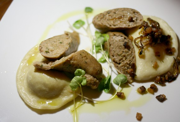 Chef Kris Vrolijk impressed with pierogis two ways and sausage. - HEATHER HOCH