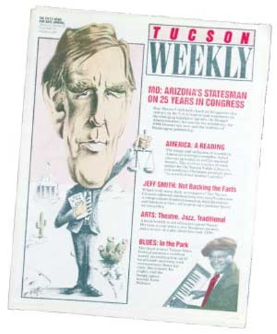 Congressman Mo Udall looks back on 25 years serving Southern Arizona: He is an abiding friend of the environment and a champion of those without political or economic influence. -- Sept. 30, 1987 - STEVE LAWRENCE