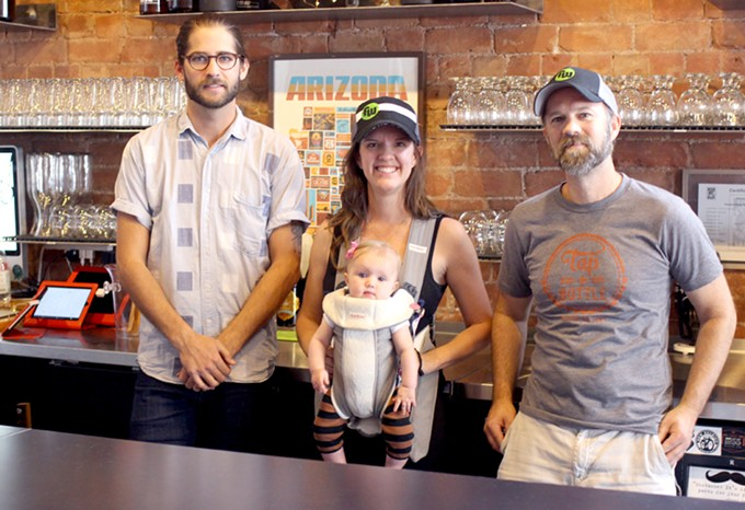 Connor Mansager has joined on to help Rebecca and Scott (and Eleanor) Safford at Tap & Bottle. - HEATHER HOCH