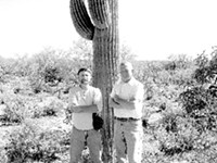 """LEO W. BANKS - Dan Wirth (left) and Keith Graves: """"We have a porous border."""""""