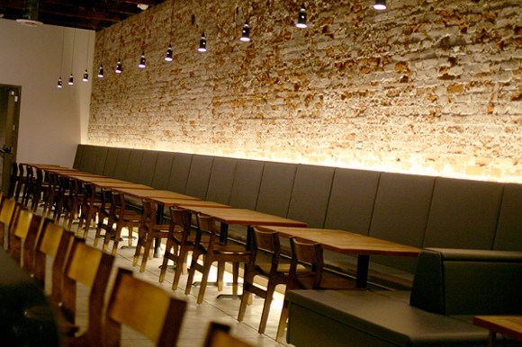 The interior of Ermanos is chic and clean, but still very relaxed. - HEATHER HOCH